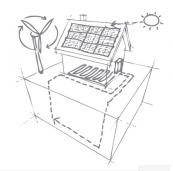 A plan for a renewable energy equipped house from Prescient Power