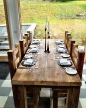 Dining tables from EatSleepLive are chunky, solid, timeless and hard wearing