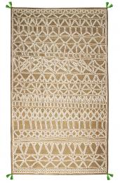 Mosaico rug in beige from NOW Carpets. Made in India from recycled polyester yarn