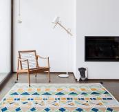 Inma Bermudez rugs, such as Mosaico pictured here, for NOW Carpets are hand-made in India and are perfect for indoor use too