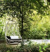 Nautica real rattan swing chair, made in Spain by Spanish manufacturer Expormim. Comes with own stand for indoor use. www.expormim.es