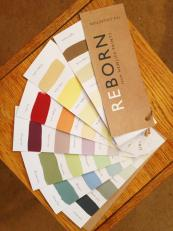 Newlife Paint's Reborn brand (29 colours) is made from largely recycled paint. £29 for 2.5 litres