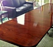 Walnut boardroom table French polished to a high shine