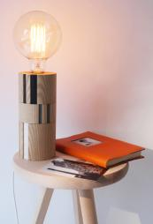 Groove ash wood lamp, £195