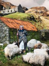 Shepherdess Morag Morrison, Lickisto, Harris