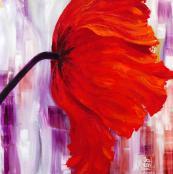 First of a flower triptych. Bruissement Charnelles 76x76cms, 3,000 euros