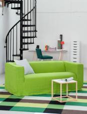 New Bemz slip covers in Designers Guild linen. This cover in leaf fits Ikea's Klippan two-seater sofa. £309.