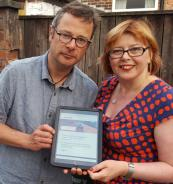 Karen with  Hugh Fearnley Whittingstall - she was an adviser to his recent TV series on waste