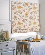 Roman blinds are ideal for kitchens as they fold out of the way