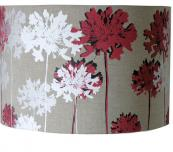 Linen lampshade by textile designer Emma Purdie, printed in Devon. £85. www.emmapurdie.co.uk