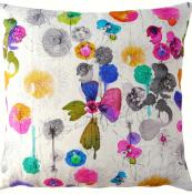 Imogen Heath's Dahlia linen fabric is bright, modern and fun.