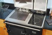Everhot's electric 90i range with eco control has an induction hob. Made in Gloucestershire