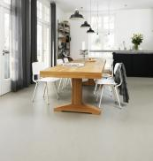 For a smooth sleek look, a Marmoleum floor is a good choice. From around £35 m2