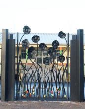 Metal gates by artist blacksmith Adam Booth