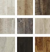 Some of the wood finishes available from Moduleo..they are very realistic