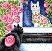 How Much is that Moggy in the Window, by illustrator Val Macadam