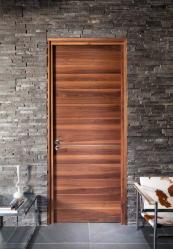 Contemporary horizontal grain black walnut veneer Raw from Urban Front