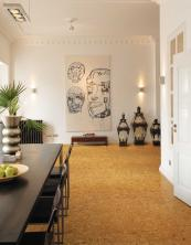 Cork is a great flooring material. CorkComfort from Wicanders, £37m2