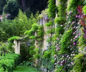 The gardens are verdant - it took six years to restore them