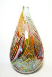 Multi coloured round bottomed vase by Adam Aaronson. www.aaronsonnoon.com