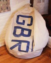 Oarsum sailcloth beanbags can be personalised with letters, numbers or dates. £260, oarsum.co.uk