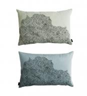 Danish homewares brand Oyoy's new organic cotton Dream Dot cushions, 40x60cms, come in faded blue, green and pink. www.oyoy.dk