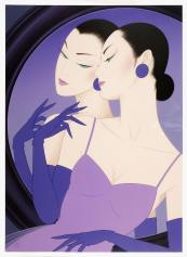 Beauty with a Mirror by Ichiro Tsuruta (b 1954), original offset lithograph, 74.5x54.4cms, 1999, £3,045