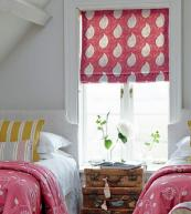 Roman blinds allow you to enjoy a fabric without having to buy acres of it. www.vanessaarbuthnott.co.uk