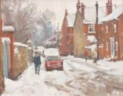 Morning Snow Mill Lane 40x47cms, £845. By David Pilgrim