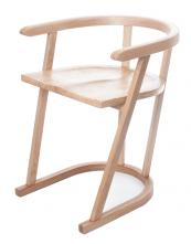 Simple, elegant and exquisitely crafted Horseshoe oak chair by Steuart Padwick. H61.5xW53xD56cm POA.www steuartpadwick.co.uk