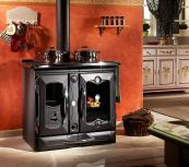 For a touch of turn of Edwardian  splendour, Italian La Nordica Thermo Suprema cooker is green wood burning and 83 per cent efficient