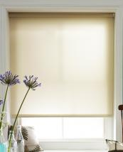 Tuiss Index White Sand roller blind made from a fabric itself made from recycled plastic bottles. www.tuiss.co.uk
