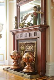 Vivian bought antique fireplaces for the house and decorative objets