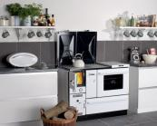 Stovax Wamsler 1100 Central Heating Range Cooker runs on wood or solid fuel. Heats hot water and radiators
