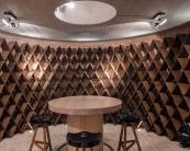 A bespoke oak wine cellar