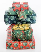 A delightful stack of Wrag Wrapped gifts