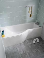Concept bath from Ideal Standard fills with just 116 litres of water. £573.44