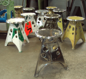 The hand-made stools sell for between £250 and £425.