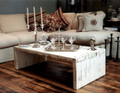 Whitewash finish to the Nordic-style coffee table from Modish LIving