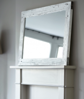 Coastal mirror made from old port decking, L120xW80xD4cms, £229 from www.mobius-living.co.uk