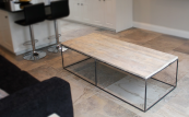 Mild coffee table, L150xD66xH40cms, £260, reclaimed wood and steel frame by Dan Spendlove www.roughliving.co.uk