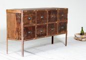 Reiner sideboard made in India from reclaimed hardwoods from offices and factories, £595, www.littletreefurniture.co.uk