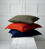 Oxford distressed linen cushions, 58x58cms, 3 colours, £45, from French Connection. www.frenchconnection.com
