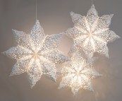 FSC paper Snowflake lanterns, from £13.99, The Hanging Lantern Company. www.hanginglanterns.co.uk