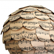 Naturally Heartfelt recycled sheet music lampshade by Stephanie Wheeler, made in Cornwall, £49.50. http://folksy.com/shops/naturallyheartfelt