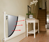 Radflek laminated foil radiator reflectors reflect heat back into the room. From £21.99. www.radflek.com