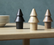 Oak/walnut Tree Mill salt and pepper grinders, by Objekten, made in Germany, £64. www.triitme.com