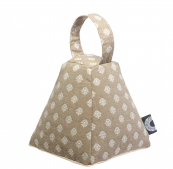 San Remy doorstop from Celia Lindsell is made from linen and filled with organic lavender. £29.99, www.celialindsell.com