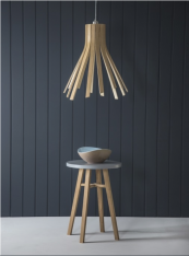 Flux light, £475, new from Cornwall's brilliant lighting/furniture designer Tom Raffield. www.tomraffield.com