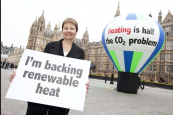 Green Party MP Caroline Lucas supports drives to get more of us to opt for renewable heat